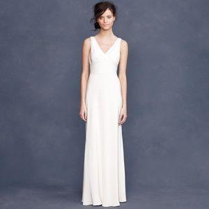 J. Crew Sophia Silk Tricotine Wedding Gown 10 NWT